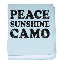 Peace Sunshie Camo baby blanket