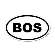 BOS Boston Oval Car Magnet