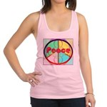 Abstract Peace Sign Racerback Tank Top
