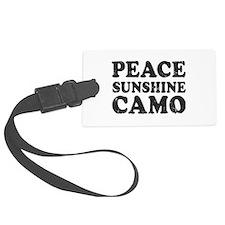 Peace Sunshie Camo Luggage Tag