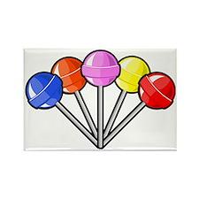 colorful lollipops Rectangle Magnet
