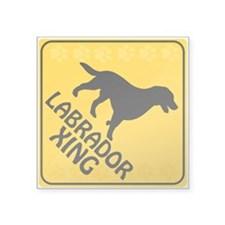 "Labrador Xing Square Sticker 3"" x 3"""