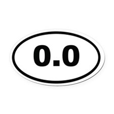0.0 Miles Oval Car Magnet