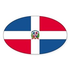Dominican Republic Rectangle Decal