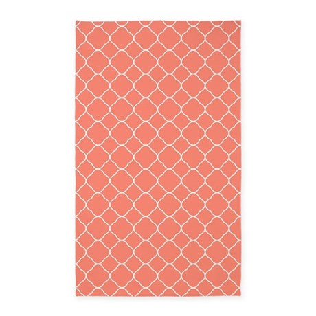 Gifts Chic Bedroom D Cor Coral Quatrefoil Pattern 3 39 X5 39