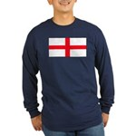 England English Flag Long Sleeve Blue T-Shirt