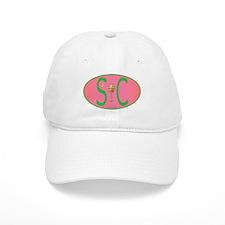 SC European Decal Pink and Green Oval Baseball Baseball Cap