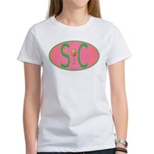 SC European Decal Pink and Green Oval T-Shirt