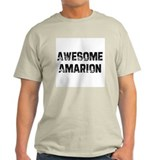 Awesome Amarion Ash Grey T-Shirt
