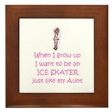Ice Skater...just like Aunt Framed Tile