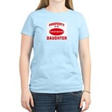 DAUGHTER Firefighter-Property Women's Pink T-Shirt