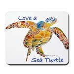 LOVE A SEATurtle Mousepad