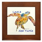 LOVE A SEATurtle Framed Tile