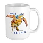 LOVE A SEATurtle Large Mug