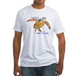 LOVE A SEATurtle Fitted T-Shirt