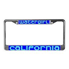 Watergirl License Plate Frame