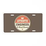Authentic Engineer Aluminum License Plate
