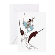Jesus - Narwhal Rider Greeting Card