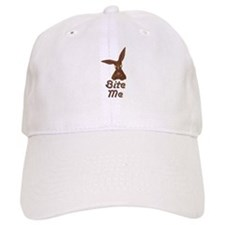 Bite Me Easter Chocolate Bunny Baseball Baseball Cap
