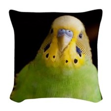 Funny Birds Woven Throw Pillow