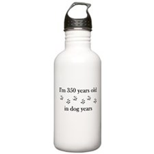 50 birthday dog years 4-1 Water Bottle