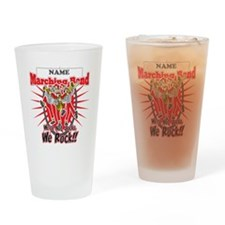 Marching Bands Rock(Red) Drinking Glass