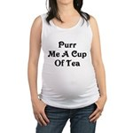 Purr Me A Cup of Tea Maternity Tank Top