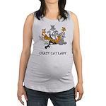 crazy-cat-lady.tif Maternity Tank Top
