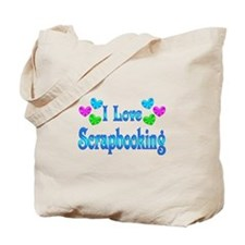 I Love Scrapbooking Tote Bag