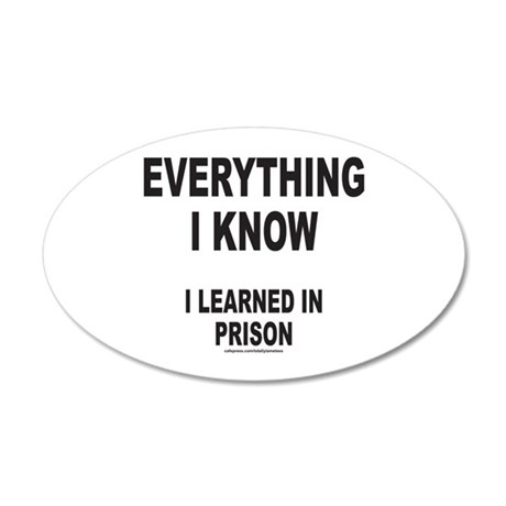 EVERYTHING I KNOW I LEARNED IN PRISON 20x12 Oval W
