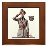 Women in WWI Framed Tile
