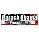 Barack Obama 2008 President Bumpersticker