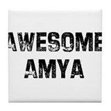 Awesome Amya Tile Coaster
