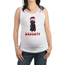 Naughty Affenpinscher Maternity Tank Top