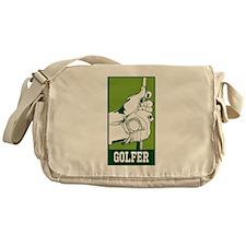 Personalized Golfer Messenger Bag