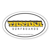 New 60's Tanaka Surfboards Oval Decal