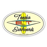 New 60's Tanaka Surfboards Oval  Aufkleber