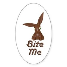 Bite Me Easter Chocolate Bunny Decal