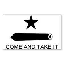 Gonzales Flag Rectangle Decal