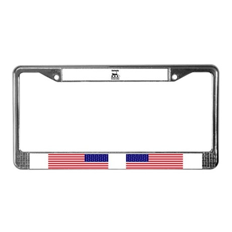 Curiosity one year on mars License Plate Frame