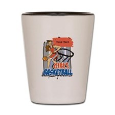 Personalized Girls Basketball Shot Glass