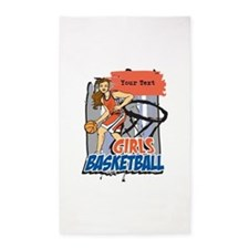 Personalized Girls Basketball 3'x5' Area Rug