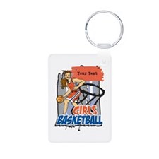 Personalized Girls Basketball Keychains