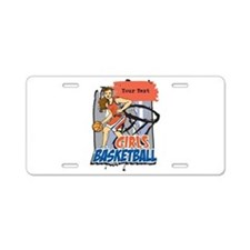 Personalized Girls Basketball Aluminum License Pla
