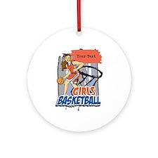 Personalized Girls Basketball Ornament (Round)