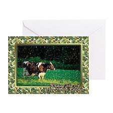 Holstein Cow Christmas Card Greeting Card