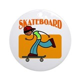 Skateboard Boy Ornament (Round)