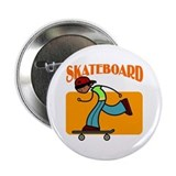 Skateboard Boy Button