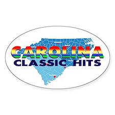 Carolina Classic Hits Oval Decal