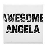 Awesome Angela Tile Coaster